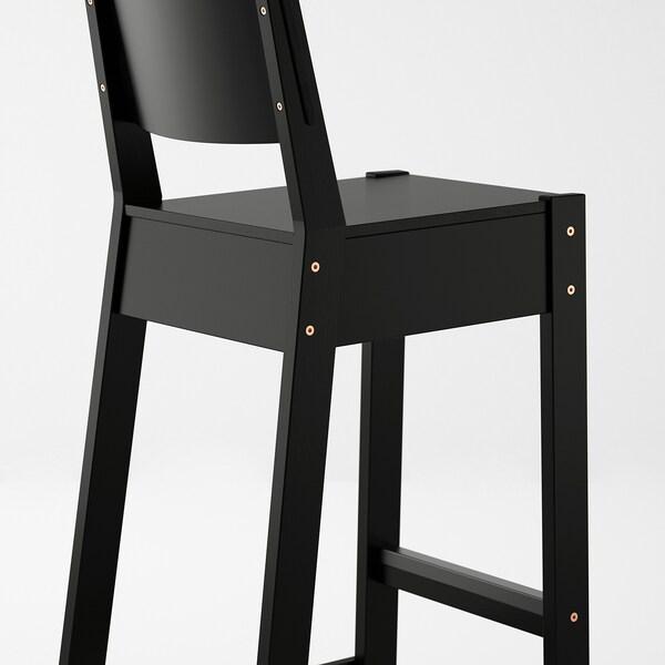 NORRÅKER Chaise de bar, noir, 74 cm