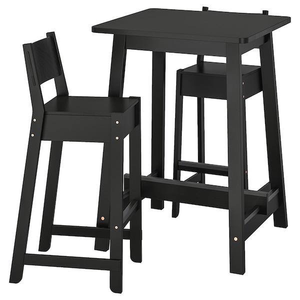 Table bar et 2 tabourets NORRÅKER / NORRÅKER noir, noir