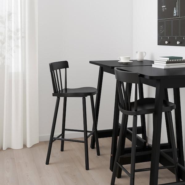 NORRARYD Chaise de bar, noir, 74 cm