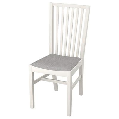 NORRNÄS Chaise, blanc/Isunda gris
