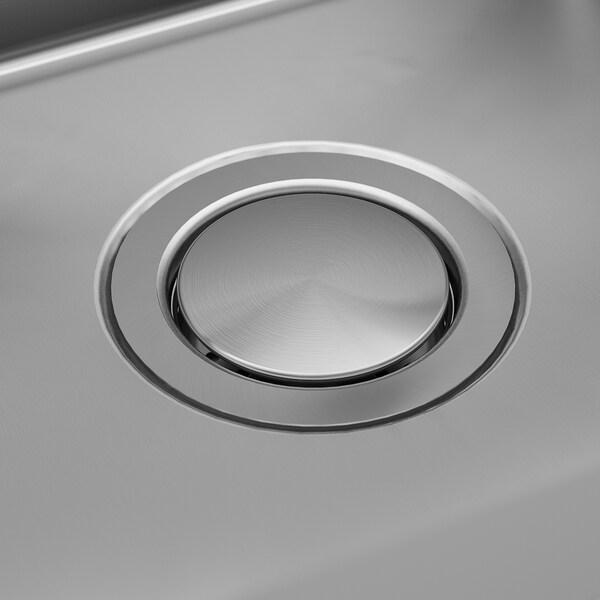 NORRSJÖN Évier intégré, 2 bacs, acier inoxydable, 73x44 cm
