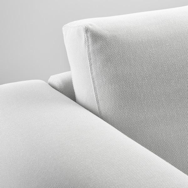 NORSBORG Canapé 3 places, avec méridienne/Finnsta blanc/bouleau