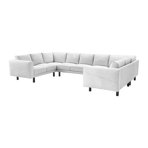 norsborg canap 9 places en u finnsta blanc gris ikea. Black Bedroom Furniture Sets. Home Design Ideas