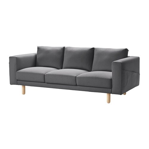 norsborg canap 3 places finnsta gris fonc bouleau ikea. Black Bedroom Furniture Sets. Home Design Ideas