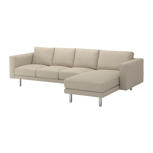 Norsborg canap 3 places m ridienne edum beige m tal ikea for Canape meridienne ikea