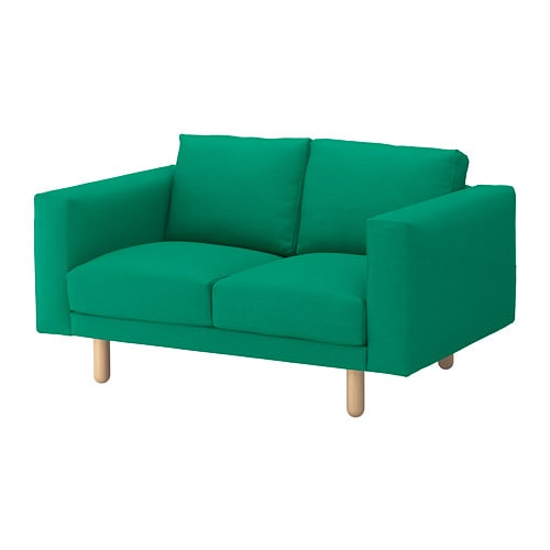 norsborg canap 2 places edum vert vif bouleau ikea. Black Bedroom Furniture Sets. Home Design Ideas