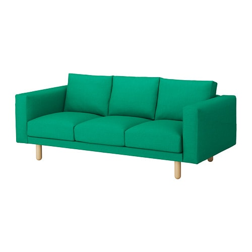 norsborg canap 3 places edum vert vif bouleau ikea. Black Bedroom Furniture Sets. Home Design Ideas