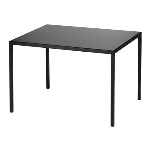nyboda table basse avec plateau r versible noir beige ikea. Black Bedroom Furniture Sets. Home Design Ideas