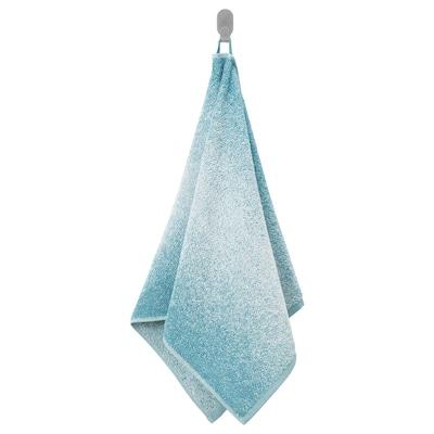 NYCKELN Serviette, blanc/turquoise, 50x100 cm