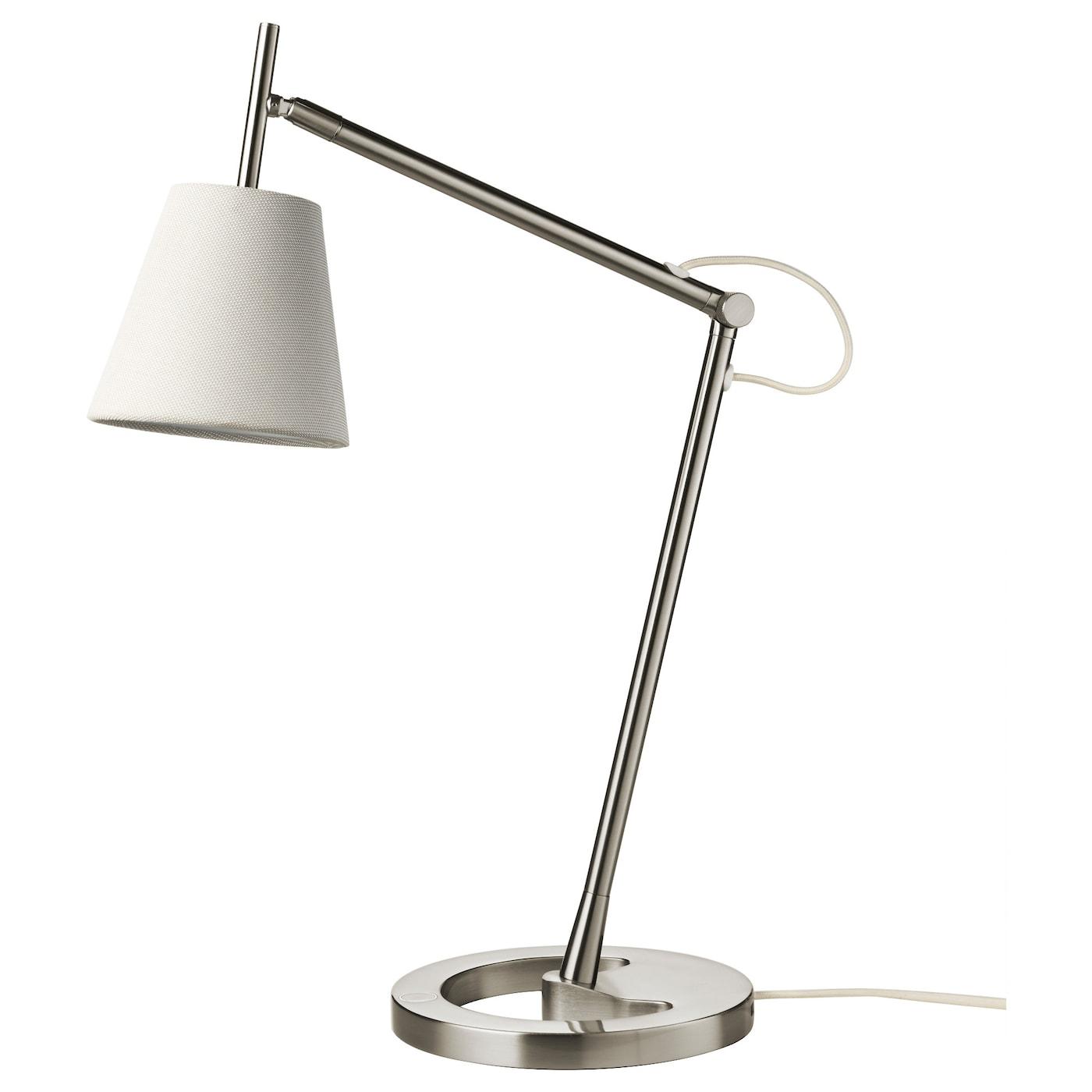 NYFORS Lampe de bureau, nickelé blanc   IKEA