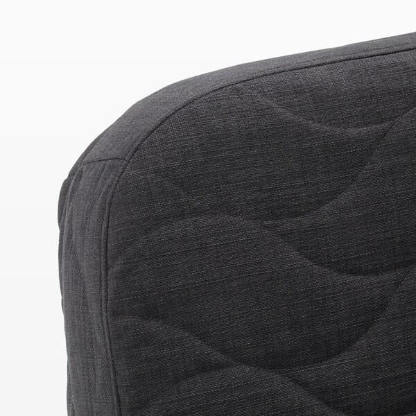 NYHAMN Convertible clic-clac 3 places, avec matelas en mousse/Skiftebo anthracite - IKEA