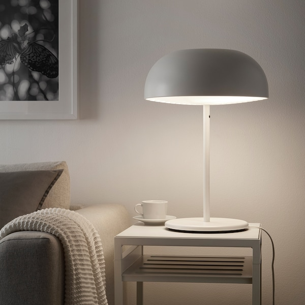 Nym ne lampe de table blanc ikea - Luminaire pour salle de bain ikea ...