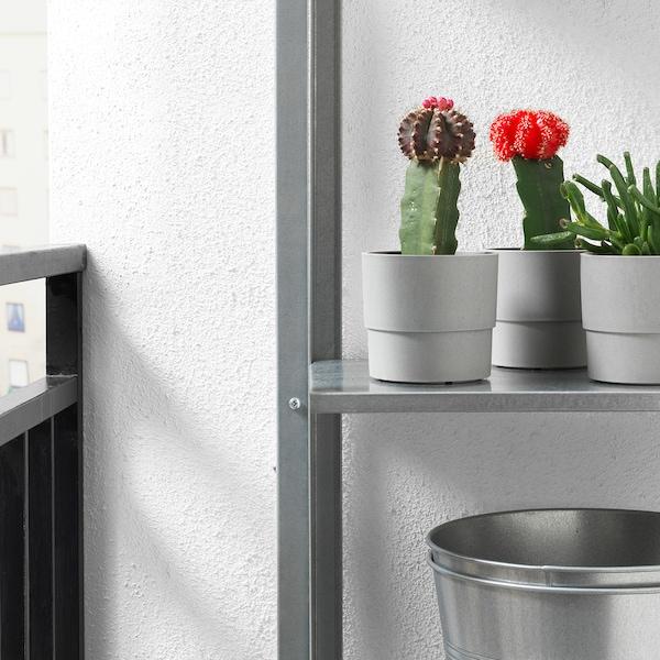 NYPON Cache-pot, intérieur/extérieur gris, 9 cm