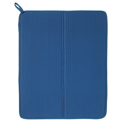 NYSKÖLJD Tapis séchage vaisselle, bleu, 44x36 cm