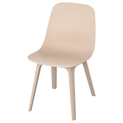 ODGER Chaise, blanc/beige