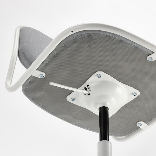 ÖRFJÄLL Chaise pivotante, blanc/Vissle gris clair