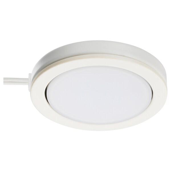 OMLOPP Spot à LED, blanc, 6.8 cm