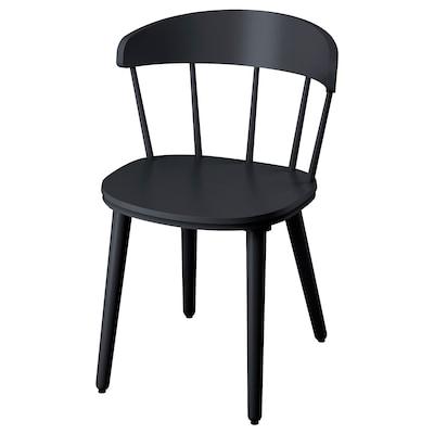 OMTÄNKSAM chaise anthracite 53 cm 50 cm 79 cm 45 cm 43 cm 47 cm