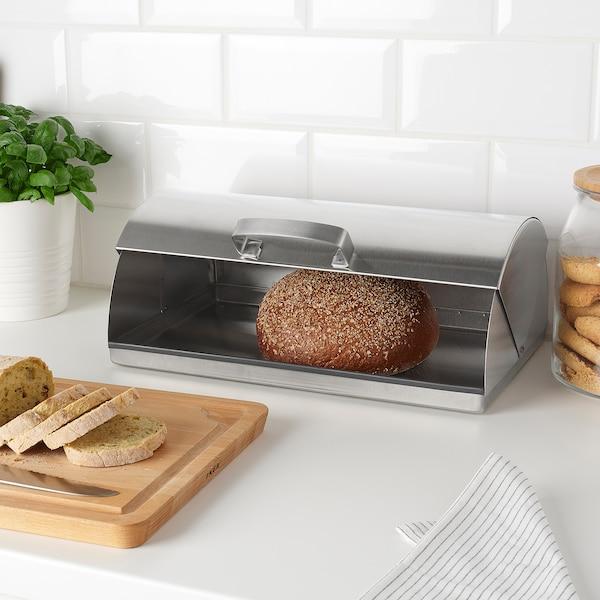 ORDNING Boîte à pain, acier inoxydable
