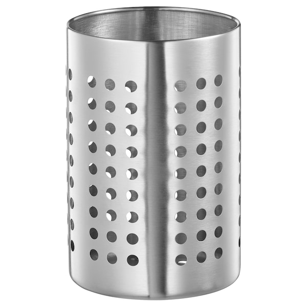 ORDNING Pot à ustensiles de cuisine, acier inoxydable, 18 cm