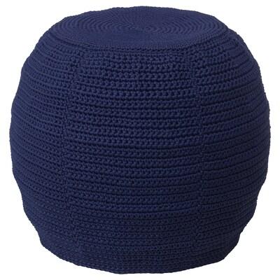 OTTERÖN / INNERSKÄR Pouf, int/extérieur, bleu, 48 cm