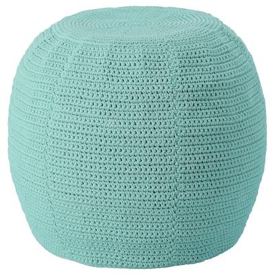 OTTERÖN / INNERSKÄR Pouf, int/extérieur, turquoise clair, 48 cm