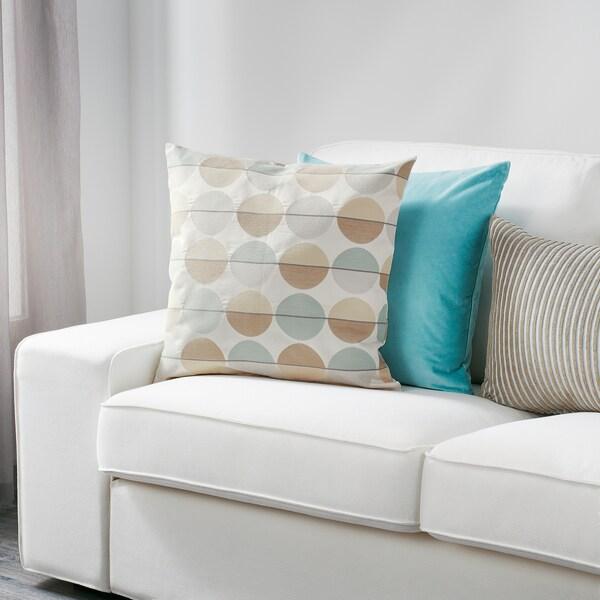 OTTIL housse de coussin beige/multicolore 50 cm 50 cm