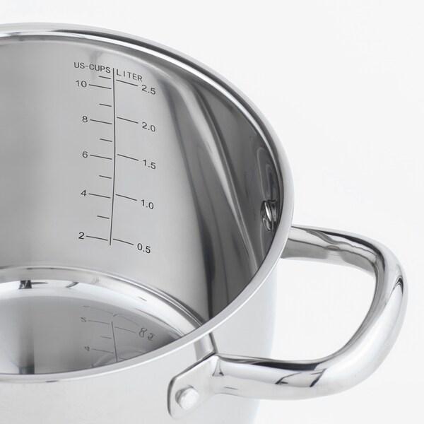 OUMBÄRLIG faitout avec couvercle 13 cm 20 cm 3 l