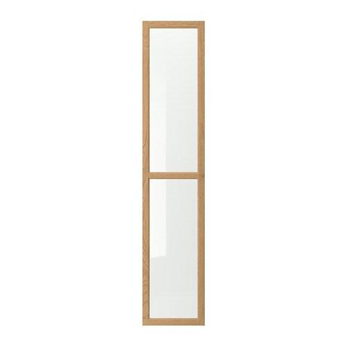 oxberg porte vitr e plaqu ch ne ikea. Black Bedroom Furniture Sets. Home Design Ideas