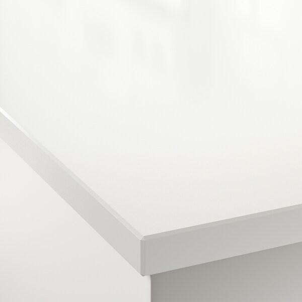 OXSTEN plan de travail sur mesure blanc quartz 1.2 cm 3.8 cm 100 cm 10 cm 300 cm 45.1 cm 63.5 cm 3.8 cm