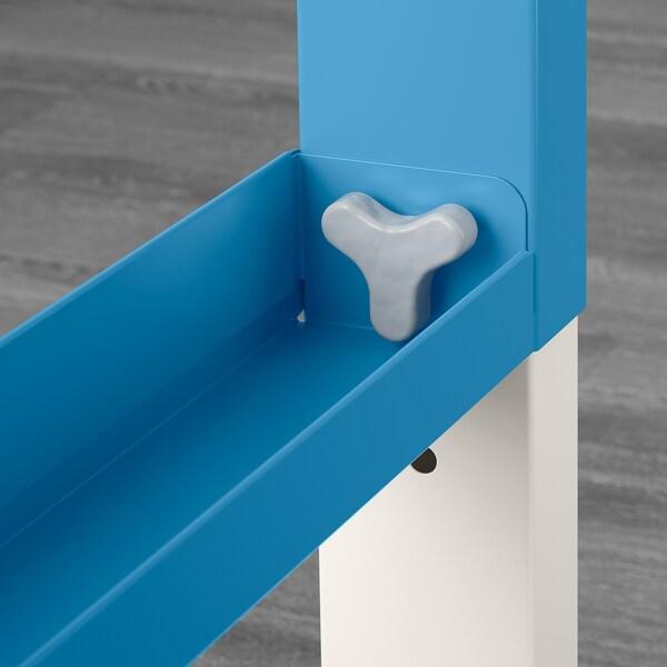 PÅHL Bureau, blanc/bleu, 128x58 cm
