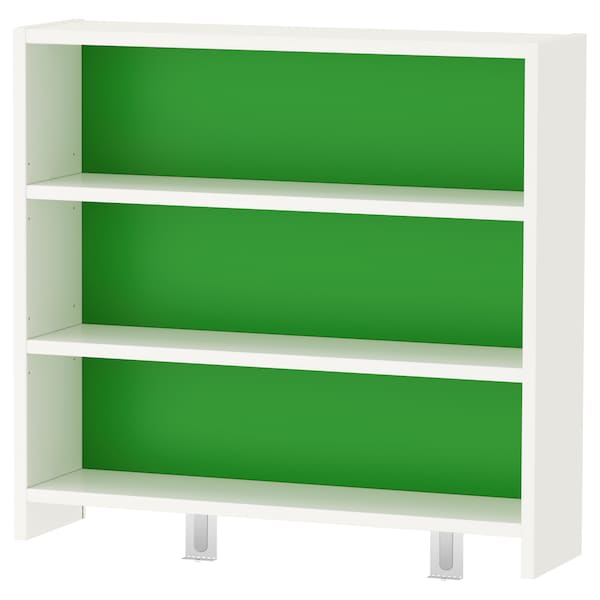 PÅHL Étagère pour bureau, blanc/vert, 64x60 cm