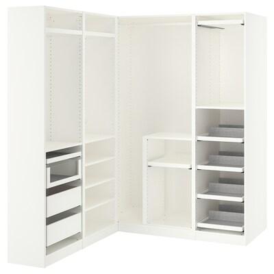 PAX Armoire d'angle, blanc, 160/163x201 cm