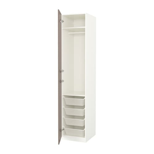 Pax armoire penderie 50x60x236 cm charni re fermeture silencieuse ikea for Penderie moderne