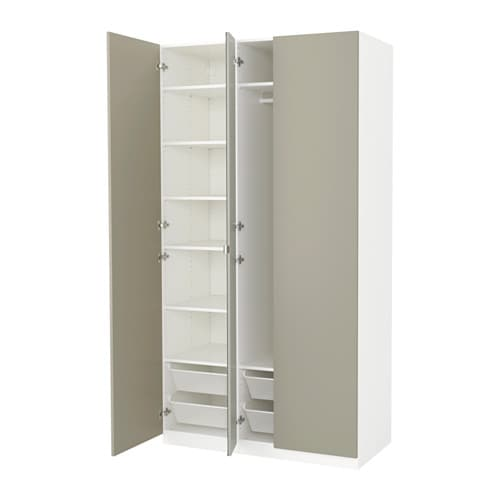pax armoire penderie 125x60x236 cm ikea. Black Bedroom Furniture Sets. Home Design Ideas