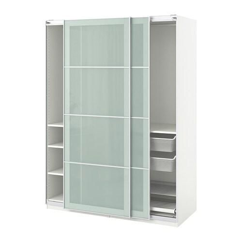 Pax armoire penderie 150x66x201 cm accessoire de fermeture silencieuse ikea - Porte coulissante silencieuse ...