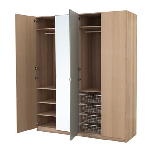 pax armoire penderie charni re fermeture silencieuse 200x60x236 cm ikea. Black Bedroom Furniture Sets. Home Design Ideas