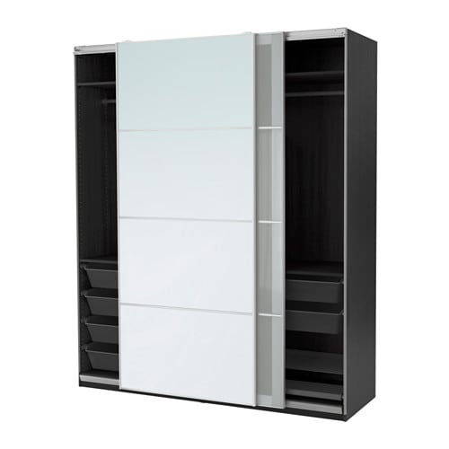 pax armoire penderie 200x66x236 cm accessoire de fermeture silencieuse ikea. Black Bedroom Furniture Sets. Home Design Ideas