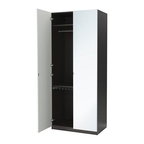 Pax armoire penderie 100x60x236 cm charni re fermeture silencieuse ikea - Profondeur penderie standard ...