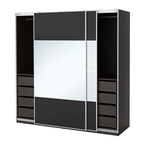 pax armoire penderie 200x66x201 cm ikea. Black Bedroom Furniture Sets. Home Design Ideas