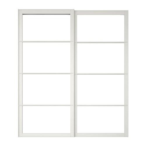 Pax cadre porte coulissante 2pces 200x236 cm ikea - Cadre photo blanc ikea ...