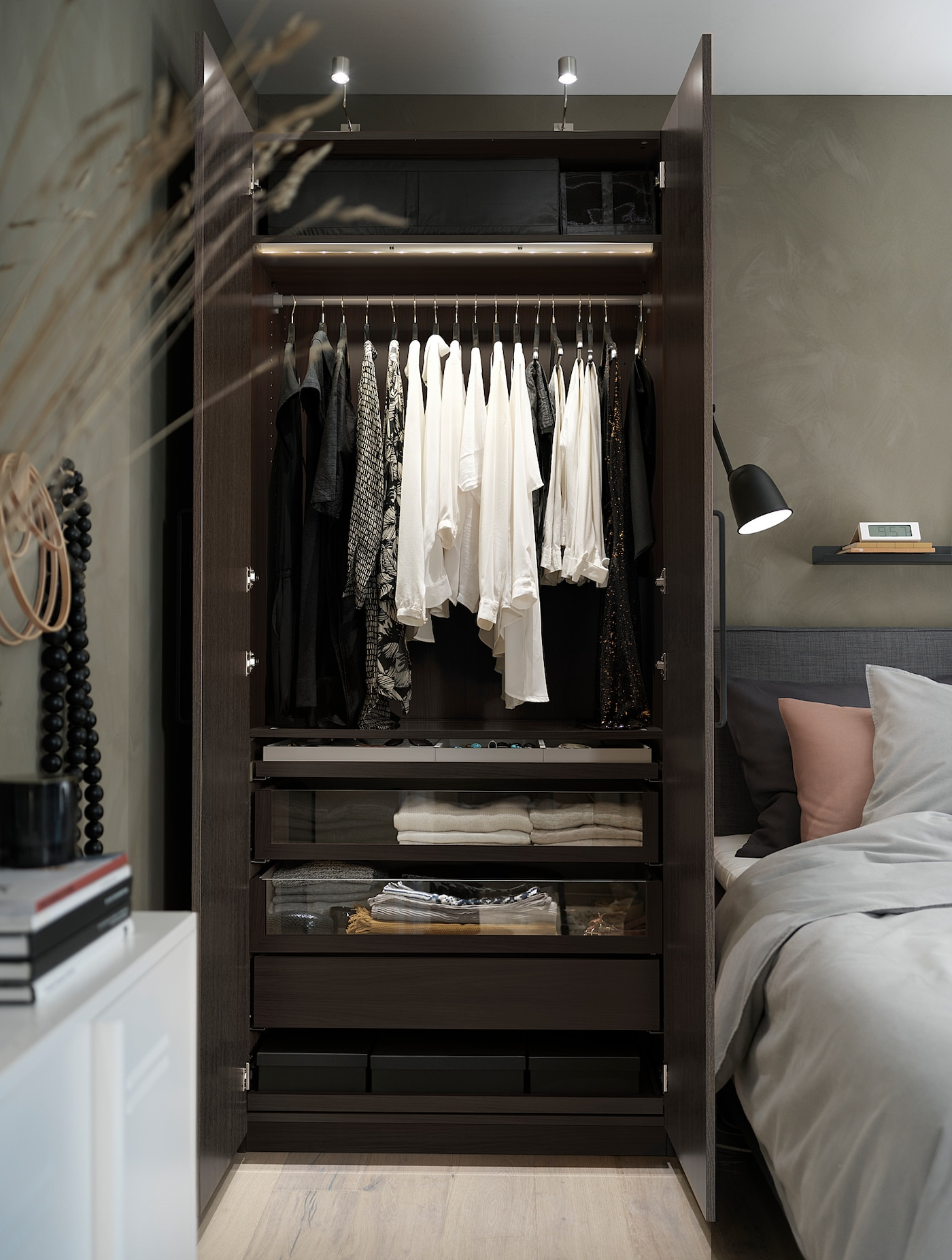 Pax Caisson D Armoire Brun Noir 100x58x236 Cm Ikea
