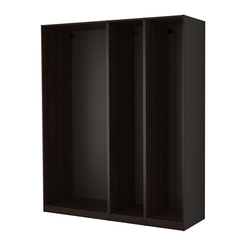 pax 3 caissons armoire brun noir ikea. Black Bedroom Furniture Sets. Home Design Ideas