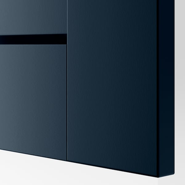 PAX / GRIMO Combinaison armoire, blanc/Grimo bleu foncé, 150x60x201 cm