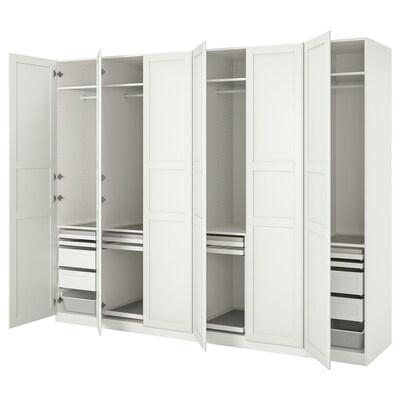 PAX / TYSSEDAL Combinaison armoire, blanc/blanc, 300x60x236 cm