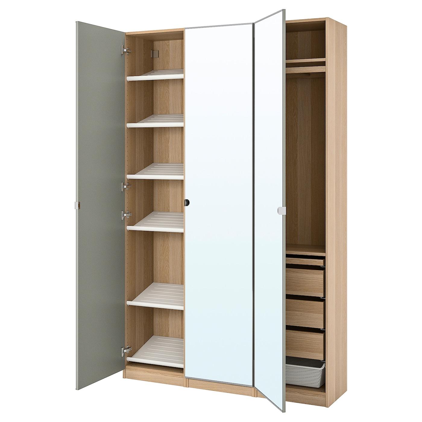 PAX / VIKEDAL Combinaison armoire, effet chêne blanchi ...
