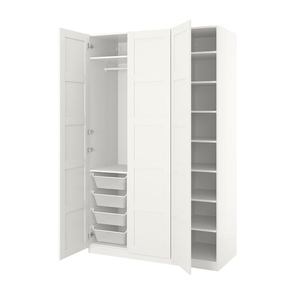 Pax Armoire Penderie Blanc Bergsbo Blanc 150x60x236 Cm Ikea