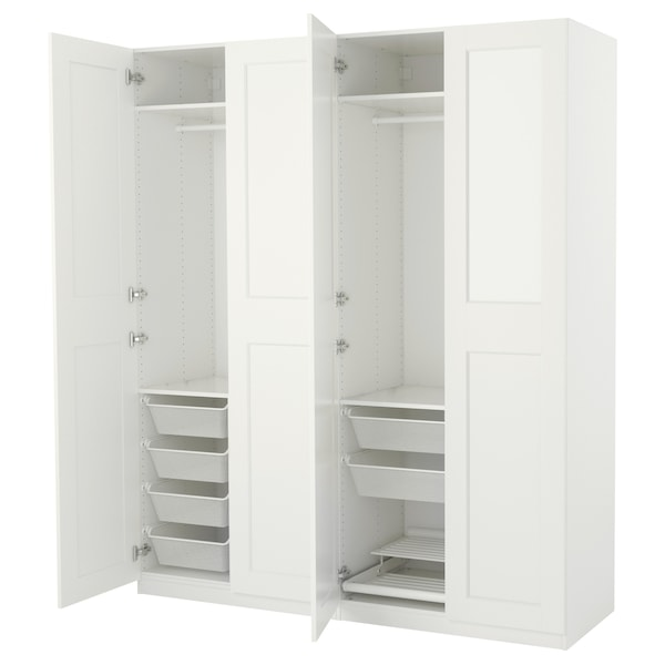 Armoire Penderie Pax Blanc Grimo Blanc