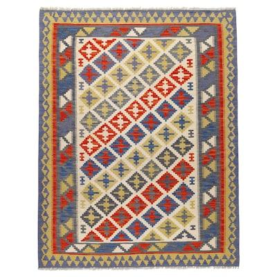 PERSISK KELIM GASHGAI Tapis tissé à plat, fait main motifs divers, 125x180 cm