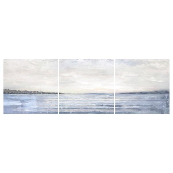 PJÄTTERYD Reproduction, lot de 3, Paysage côtier, 56x56 cm